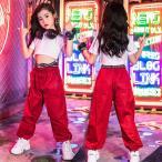 キッズ ダンス衣装 セットアップ ヒップホップ  HIPHOP ダンストップス 長袖 サルエルパンツ ズボン 子供 女の子 ステージ衣装 練習着 演出服