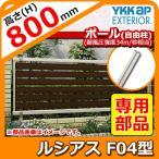 ショッピングフェンス アルミフェンス 目隠し 囲い ルシアスフェンスF04型 H800タイプ専用 T80 オプションポールのみ 自由柱(耐風圧強度34m) YKKap UFE-F04 送料別