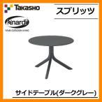 ガーデンファニチャー ガーデン テーブル スプリッツ サイドテーブル ダークグレー NAR-LT01DG 33591600 TAKASHO タカショー 送料別
