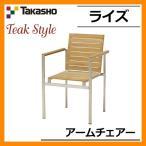 ガーデンファニチャー ガーデン チェア ライズ アームチェアー TRD-109C 33881800 TAKASHO タカショー チークスタイル 天然木 送料無料