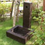 枕木風水栓柱カバー ガーデンパンセット FRP製 枕木調 水洗柱ユニットセット 78820 送料無料