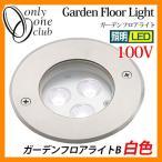 ショッピングLED LED 照明 ガーデンフロアライトB 白色 100V ガーデンライト LEDライト 外灯 屋外 門灯  TS1-BW02S オンリーワンクラブ 送料無料
