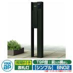 機能門柱 機能ポール YKKap ルシアス ポストユニットBN02型 シンプル 表札灯タイプ 前入れ横出し YKK UMB-BN02 T9R型ポストセット 送料無料