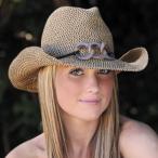 牧童高邊帽 - 帽子 レディース ハット UVカット ウエスタン テンガロンハット SBD17-BROWN
