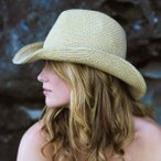 牧童高邊帽 - 帽子/レディース/ハット/UVカット 帽子/つば広/ウエスタン/テンガロンハット SBD17-NATURAL