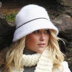 【アウトレット】帽子/レディース/ハット/UVカット/秋冬/アンゴラ カラー:アイボリー、ブラック SBD69