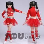 ダンス衣装 子供 女の子 ジャズダンス 衣装 セットアップ チア チアガール 衣装 ダンスウェア ショットパンツ ガールズ チュチュ スカート