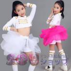 ダンス 衣装 チアガール  ダンス衣装 キッズ ガールズ セットアップ ジャズダンス ヒップホップ ダンス 衣装 子供 女の子 社交ダンス 衣装