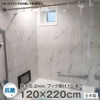 透明 シャワーカーテン 120×220 Sフック付 防水 バスカーテン 防カビ 日本製