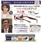 ルーペ メガネ 拡大鏡 跳ね上げ式 スマートアイ SMART EYE 1.6倍 はね上げ メガネルーペ オーバーグラス 眼鏡の上から ブルーライトカット 男女兼用