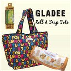プールバッグ GLADEE グラディー ロール&スナップトート エコバッグ ショッピングバッグ 折り畳み ナイロン