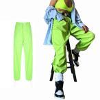 即納レディース ダンス衣装 ヒップホップ パンツ 軍パン ヒップホップダンス 衣装 カーゴパンツ ゆったり  大人 裾ゴム ストリートファッション