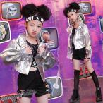 キッズ ダンス衣装 HIPHOP ヒップホップ セットアップ タンクトップ ジャケット ショートパンツ  女の子 ガールズ ジャズダンス ステージ衣装 練習着