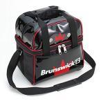 (ブランズウィック) ボウリング バッグ BC30S シングルバッグ ブラック・レッド ボウリング用品