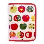 ショッピング母子手帳 母子手帳ケース ファスナー マルチケース おしゃれリンゴのひみつ(アイボリー) B2801300