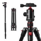 Tycka カメラ用三脚 一脚可変式&自由雲台付き 4段 全
