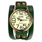 古董手錶 - Lancardo 腕時計 レディース アンティーク ブレスレット 時計 メンズ 腕時計 シンプル 防水 レザーベルト アナログ表示 カジュア