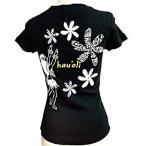 hauoli 「ハレマル・ティアレ」 ハワイアン フラダンス Tシャツ 半袖 M