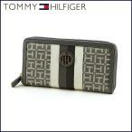 ショッピングHILFIGER TOMMY HILFIGER トミーヒルフィガー 長財布 W86935641-045 シルバー×ストライプ