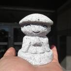 笠地蔵 おじぞうさん おじぞうさま 地蔵尊 仏像 石像 置物 オブジェ かわいい  地蔵さん 700g 送料無料