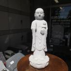 地蔵菩薩 C 白御影 石仏 地蔵  癒しのお地蔵さん 石の置物 御影石  高級たたき仕上げ 送料無料
