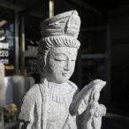 観音菩薩立像1.0尺 総高39cm観音様 聖観音 観自在菩薩 石像  彫刻品 屋外 ハンドメイド 置物 オブジェ 美術品