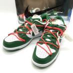 ナイキ オフホワイト 未使用 スニーカー シューズ 箱付き ダンクロー DUNK LOW LTHR CT0856-100 メンズ 27.0cm グリーン×ホワイト NIKE×OFFWHITE 靴 B2307◆