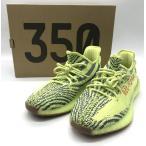 アディダス YEEZY BOOST 350 V2/B37572 スニーカー シューズ 美品 メンズ 27.5cm セミフローズンイエロー adidas 靴 B3908◆