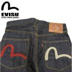 ショッピングEVISU EVISU エヴィス エビス ジーンズ NO2素材 やや細め #2000ジーンズ デニム カモメ刺繍 レッド・クリーム EGD-2000RC