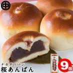 桜あんぱん 9個 (3個入×3袋) 送料無料 お取り寄せ あんぱん こしあん 菓子パン 袋 ナカダのパン