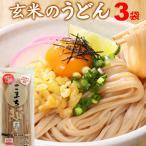 うどん 乾麺 グルテンフリー こまち麺 玄米 200g×3袋 送料無料 アレルギー対応 無塩 稲庭うどん