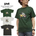 """Schott × DISNEY  ショット×ディズニー コラボ  Tシャツ """"GO TO THE N.Y.C."""