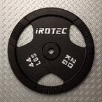 バーベル プレート IROTEC(アイロテック)アイアンプレート 20KG/バーベルプレート ベンチプレス 筋トレ ダンベル トレーニング器具 鉄アレイ Wシャフト