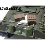 HL1/16RC戦車用 プラスチック製 アメリカ軍 装備品アクセサリーセット1 TB/ジェリカン/オイル缶/ヘルメット/木箱