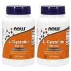 ナウフーズ Lシステイン 500mg 100錠 2本セット L-Cysteine 500mg 100tablets 2set Now Foods
