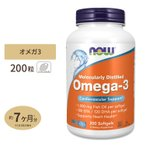 DHA EPA オメガ3 200粒 NOW Foods