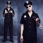 あすつくコップ(警官)大人用Mパーティーグッズイベント用品仮装衣装コスプレコスチューム男性用メンズハロウィン警察官ポリスマン