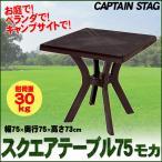 取寄品  CAPTAIN STAG(キャプテンスタッグ) ダイト PC.スクエアーテーブル75cm(モカ) アウトドア用品 キャンプ用品 リビング家