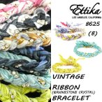 Ettika/エティカ【Vintage Ribbon&Rhinstone Crystal Bracelet】【b】B625 ヴィンテージリボン ブレスレット