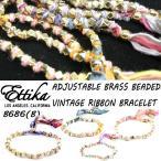 Ettika/エティカ【Adjustable BrassBeaded Vintage Ribbon Bracelet】【b】B686 ヴィンテージリボン ブレスレット スタッズ