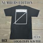 NUMBERS EDITION/ナンバーズエディション LOGOTYPE S/S TEE BLACK 半袖Tシャツ 丸首
