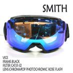 SMITH/スミス SNOW GOGGLE VICE FRAME BLACK ChromaPop Photochromic Rose Flash ASIANFIT SNOWBOARDS ゴーグル スノボ [返品、交換及びキャンセル不可]