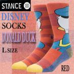 STANCE/スタンス DISNEYモデル 【DNALD DUCK】RED SOCK スケーターソックス 男性靴下 メンズ ソックス