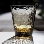 スガハラ グラス dimple  ディンプル  オールドグラス タン