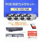 300万画素 POE給電カメラセット 電源不要 防犯カメラ 監視カメラ 家庭用 屋外 屋内 高画質  家庭用 高級感 1TB内蔵 poe-nvr-4