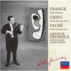 CD/アルテュール・グリュミオー/フランク、グリーグ、フォーレ:ヴァイオリン・ソナタ集 (限定盤)