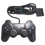 中古PS2ハード アナログコントローラ (DUALSHOCK 2) ミッドナイトブラック(状態:本体状態難)
