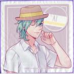 中古タオル・手ぬぐい(キャラクター) 美風藍 ミニタオル 「うたの☆プリンスさまっ♪ SHININ
