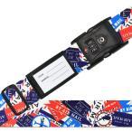 鍵付きスーツケースベルト スーツケースベルト TSA 日本製 スーツケースベルト TSAベルト エアメール柄