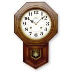 振り子時計 アンティーク風 モダンな振り子時計 ボンボン振り子時計(アラビア文字) 八角渦ボン時計